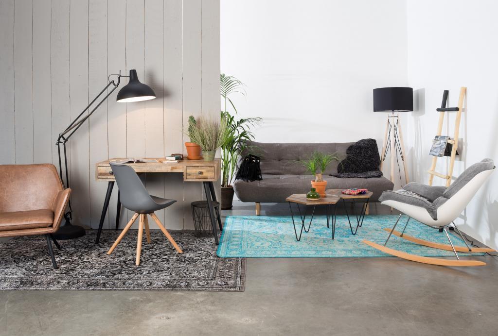 Cabin living schaukelstuhl loungestuhl rocky schwarz weiß